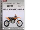 Thumbnail KTM 450 EC-W 2009 Factory Service Repair Manual Download