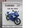Thumbnail Yamaha YZF R6 2003 Factory Service Repair Manual Download