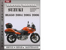 Thumbnail Suzuki DL650 2004 2005 2006 Factory Service Repair Manual Download