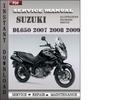 Thumbnail Suzuki DL650 2007 2008 2009 Factory Service Repair Manual Download