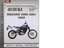 Thumbnail Suzuki DR650SE 2000 2001 2002 Factory Service Repair Manual Download