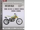 Thumbnail Suzuki DR-Z125 L 2003 2004 2005 2006 Factory Service Repair Manual Download