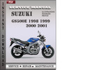 Thumbnail Suzuki GS500E 1998 1999 2000 2001 Factory Service Repair Manual Download