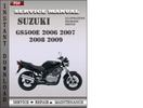 Thumbnail Suzuki GS500E 2006 2007 2008 2009 Factory Service Repair Manual Download