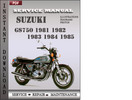 Thumbnail Suzuki GS750 1981 1982 1983 1984 1985 Factory Service Repair Manual Download