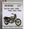 Thumbnail Suzuki GS750 1981 1982 1983 1984 1985 Factory Service Repair Manual Download