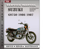 Thumbnail Suzuki GS750 1986 1987 Factory Service Repair Manual Download
