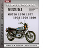 Thumbnail Suzuki GS750 1976 1977 1978 1979 1980 Factory Service Repair Manual Download