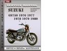 Thumbnail Suzuki GS750 1976 1977 1978 1979 1980 Factory Service Repair Manual Download
