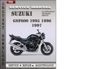 Thumbnail Suzuki GSF600 1995 1996 1997 Factory Factory Service Repair Manual Download