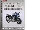 Thumbnail Suzuki GSF1250 2008 2009 Factory Service Repair Manual Download