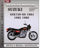 Thumbnail Suzuki GSX750-ES 1984 1985 1986 Factory Service Repair Manual Download