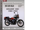 Thumbnail Suzuki GSX400F 1981 1982 1983 Factory Service Repair Manual Download