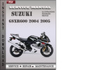 Thumbnail Suzuki GSXR600 2004 2005 Factory Service Repair Manual Download
