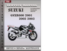 Thumbnail Suzuki GSXR600 2001 2002 2003 Factory Service Repair Manual Download