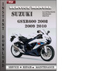 Thumbnail Suzuki GSXR600 2008 2009 2010 Factory Service Repair Manual Download