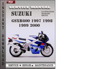 Thumbnail Suzuki GSXR600 1997 1998 1999 2000 Factory Service Repair Manual Download