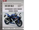 Thumbnail Suzuki GSXR600 GSX R600 2008 2009 Factory Service Repair Manual Download