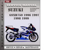 Thumbnail Suzuki GSXR750 1996 1997 1998 1999 Factory Service Repair Manual Download