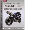 Thumbnail Suzuki GSXR750 2006 2007 Factory Service Repair Manual Download