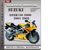 Thumbnail Suzuki GSXR750 2000 2001 2002 Factory Service Repair Manual Download
