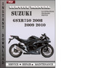 Thumbnail Suzuki GSXR750 2008 2009 2010 Factory Service Repair Manual Download