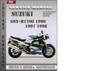 Thumbnail Suzuki GSX-R1100 1996 1997 1998 Factory Service Repair Manual Download