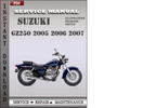 Thumbnail Suzuki GZ250 2005 2006 2007 Factory Service Repair Manual Download