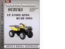 Thumbnail Suzuki LT A700X King Quad 2005 Factory Service Repair Manual Download