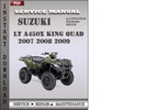 Thumbnail Suzuki LT A450X King Quad 2007 2008 2009 Factory Service Repair Manual Download