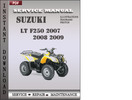 Thumbnail Suzuki LT F250 2007 2008 2009 Factory Service Repair Manual Download