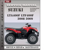 Thumbnail Suzuki LTA400F LTF400F 2008 2009 Factory Service Repair Manual Download