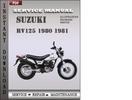 Thumbnail Suzuki RV125 1980 1981 Factory Service Repair Manual Download