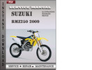Thumbnail Suzuki RMZ250 2009 Factory Service Repair Manual Download