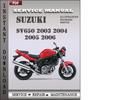 Thumbnail Suzuki SV650 2003 2004 2005 2006 Factory Service Repair Manual Download