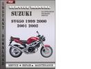 Thumbnail Suzuki SV650 1999 2000 2001 2002 Factory Service Repair Manual Download