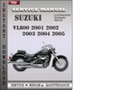 Thumbnail Suzuki VL800 2001 2002 2003 2004 2005 Factory Service Repair Manual Download