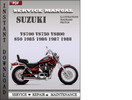 Thumbnail Suzuki VS700 VS750 VS800 S50 1985 1986 1987 1988 Factory Service Repair Manual Download