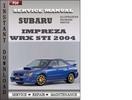 Thumbnail Subaru Impreza 2004 Factory Service Repair Manual Download