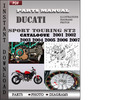 Thumbnail Ducati Sport touring ST2 2001 2002 2003 2004 2005 2006 2007 Parts Manual Catalog PDF Download