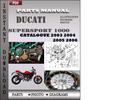 Thumbnail Ducati Supersport 1000 2003 2004 2005 2006 Parts Manual Catalog PDF Download
