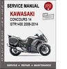 Thumbnail Kawasaki GTR1400 2008-2014 Service Repair Manual PDF