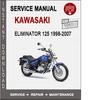 Thumbnail Kawasaki Eliminator 125 1998-2007 Service Repair Manual PDF