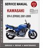 Thumbnail Kawasaki ER-5 (ER500) 2001-2005 Service Repair Manual PDF