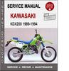 Thumbnail Kawasaki KDX200 1989-1994 Service Repair Manual PDF