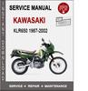 Thumbnail Kawasaki KLR650 1987-2002 Service Repair Manual PDF