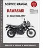 Thumbnail Kawasaki KLR650 2008-2012 Service Repair Manual PDF