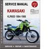 Thumbnail Kawasaki KLR600 1984-1986 Service Repair Manual PDF
