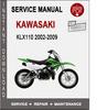 Thumbnail Kawasaki KLX110 2002-2009 Service Repair Manual PDF