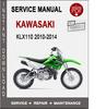 Thumbnail Kawasaki KLX110 2010-2014 Service Repair Manual PDF